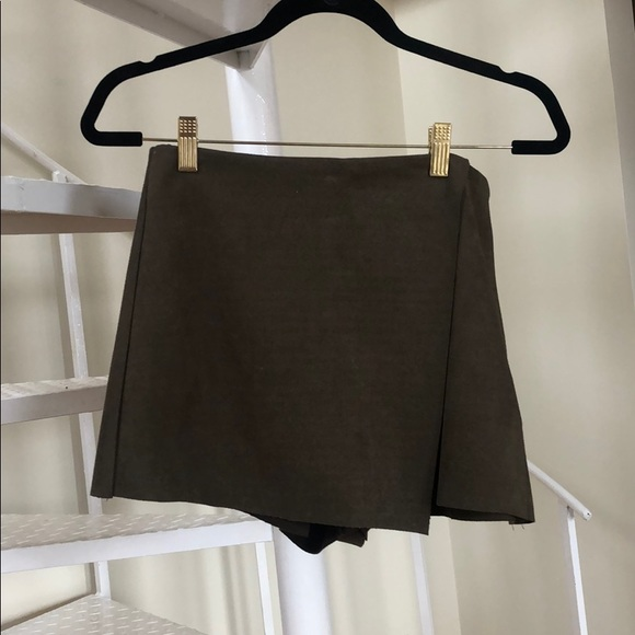 Dress Forum Dresses & Skirts - olive green suede skort SMALL